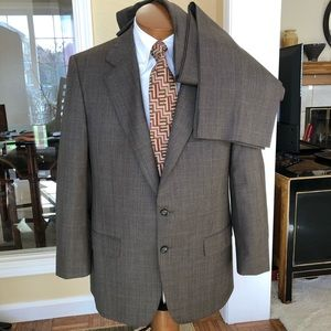 Ermenegildo Zegna Brown Suit - Read Dimensions